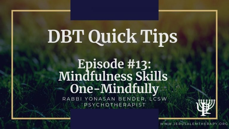 One-Mindfully: Staying Mindful Of The Moment