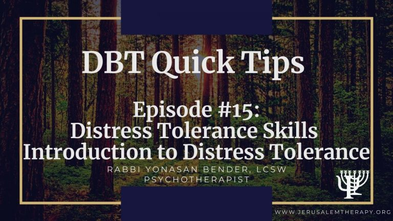 Introduction to Distress Tolerance Skills: How To Escape Pain Quickly