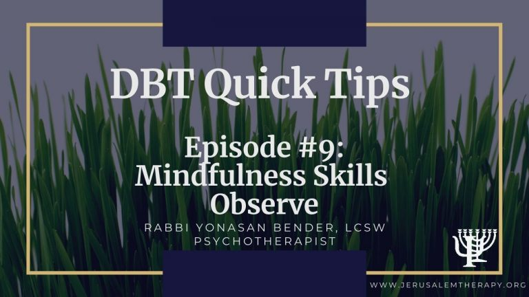 Observe Skill: New Mindfulness Strategy For Calm and Safety